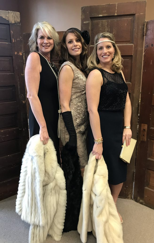 Three modern day flappers